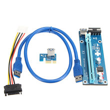 4pcs USB 3.0 Express PCI Extender Cable Converter PCI-E 15Pin-4Pin SATA IDE DC Power Supply Cable Connector Riser Mother Board(China)