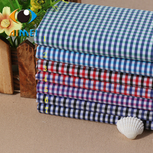 Multicolor cotton silk elastic shirt fabrics Spot yarn-dyed checks Spring and summer clothing fabrics manufacturer wholesale