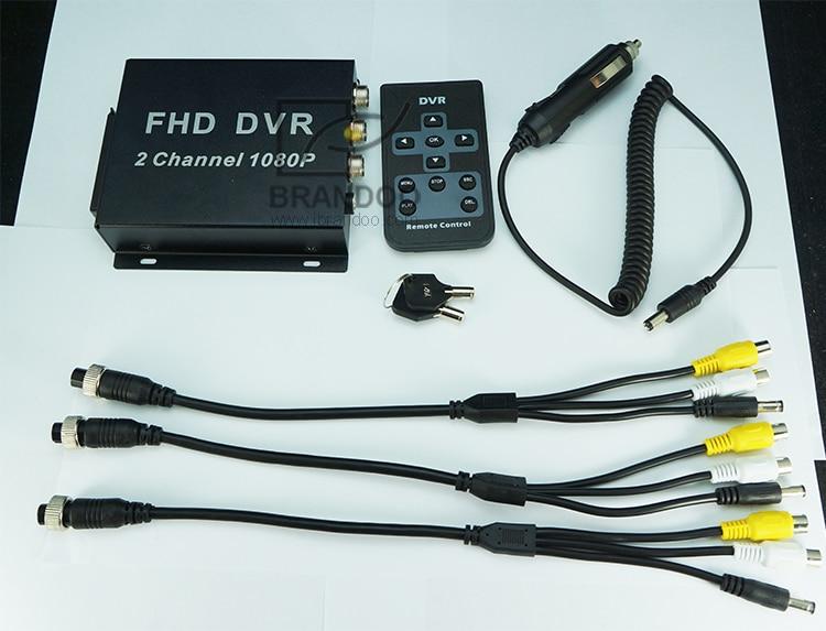 2CH 1080P SD Mobile DVR Recorder Including 2pcs 200MP AHD Inside Pinhole Car Camera H.264 MDVR
