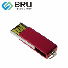 BRU 16GB USB Flash Drive Mini Metal Waterproof Pendrive USB2.0 Stick Creative Gift Custom Logo Print Laser text Engrave design(China)