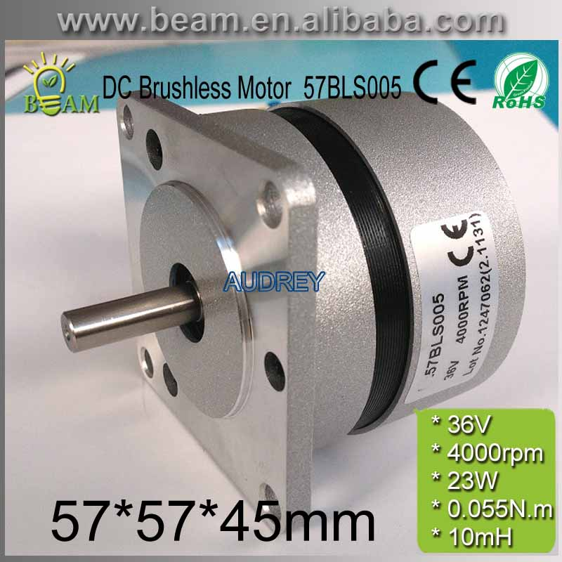 Round body square flange 36V 4000rpm 32W 0.055N.m Brushless DC Motor Hall feedback 3phase Brushless Commutator DC Motor 57BLS005<br>