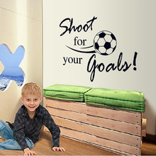 Fashion Removable Shoot For Your Goals Soccer Wall Stickers Decals Chilren Room Decoration Mural DIY