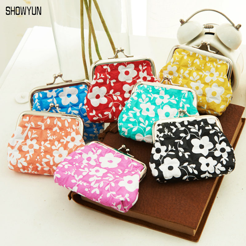 Colorful Flower Print Hasp Coin Purse 2016 Hot Change Purse Women Lipstick Small Handbag Luxury PU Leather Coin Wallet Gift Bag<br><br>Aliexpress