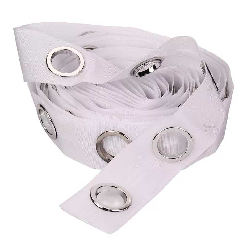 10 Meter Grommet Top White Transparent Ribbon Tape Thickening 5 Rings Per Meter DIY Sew Curtain Accessories cp101C