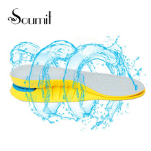 PU Shock Absorption Arch Support Insoles Gel Heel Forefoot Massaging Pads for Men Women Sport Running Shoes Cushion Insoles Pads(China)