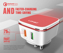 2017 NEW Original LDNIO A2405Q Qualcomm Quick Charge QC 2.0 Dual 2 Double USB charger  US/UK/EUR/AD PLUG for 5V/2.4A 9V/1.67A