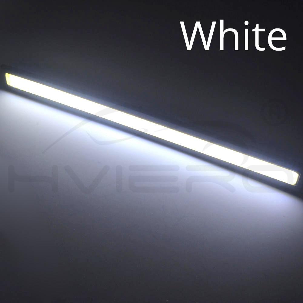Hviero 1Pcs 17cm Car DRL COB Driving Fog lamp Double Row76Leds Daytime Running lights Auto Waterproof update Ultra Bright LED DC 12V