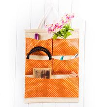 High Quality Multi Pockets Dots Hanging Storage Bag Wall Mounted Hanging Organizer Pouch Space Saver Sundries Case(China)