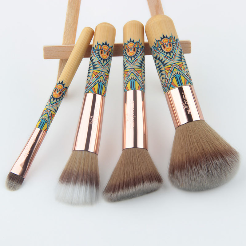 Anmor Sytnthetic Cheveux Ombre À Paupières Maquillage Pinceaux 8 pcs Bambou Cosmétique Brosses Manche En Bois Brosses Pour Le Maquillage Avec Noir sac 11