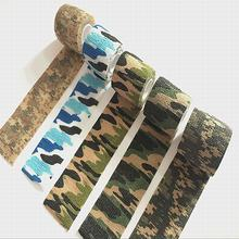 4pcs 5cmx4.5m Camping Hunting Camouflage Tape for Gun Cloths Hot Bike straps Stealth Tape Waterproof Wrap Durable HW154