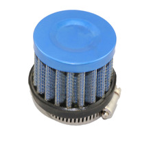 Stainless Steel Universal SUV Truck Car Air Intake Filter High Flow Washable Fuel Economy Upgrades Kit 25mm  Blue Color