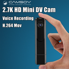 Wearable Mini Camera 2.7K 30fps Mini DV 1080P Full HD 60fps Pen Camera Voice Recorder Pen Micro Body Camara DVR Video Camera