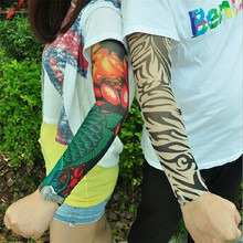 New Fashion 2 Pcs/lot Punk Men Women UV Sunscreen Skull Theme Fake Tattoo Sleeves Arm Warmers Multicolor Arm Warmers(China)
