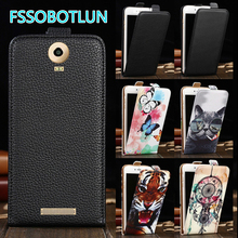 Factory Direct! TOP Quality Printed Cartoon Up and Down Flip PU Leather Cell Phone Case Cover For BLU Studio XL 2