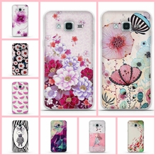 "For Samsung Galaxy J1 2016 Case Cover for Samsung J1 Case 3D Flower Silicon Cover For Samsung J1 (2016) J120F J120 J120H 4.5""bag"