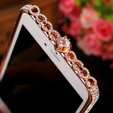 For Apple iPhone 7 Case Slim Zinc Alloy Metal Bumper For IPhone 7 8 Plus Luxury Diamond Protective Cover Capinha Coque(China)