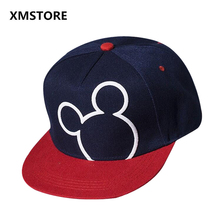 2017 New Cotton Summer Brand Cartoon Mickey Minnie Baseball Cap Boy Girl Child Hip Hop Hat Mickey Mouse Snapback Hats Bone W161