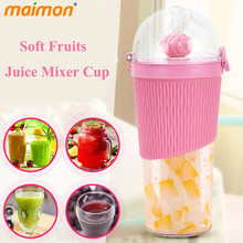 Portable Straw Drinks Juicer Bottle Copo Manual Juice Maker Machine Leakproof Fruit Mixer Plastic Powder Shaker Water Bottle(China)