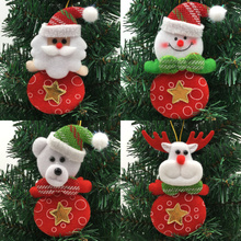 Christmas Ornaments Santa Claus Snowman Reindeer Bear 2017 Brand Festival Party Xmas Tree Hanging Decoration Gifts