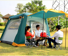 Outdoor wild camping 5-8 people double anti-mosquito couple home automatic fast open rain tents(China)