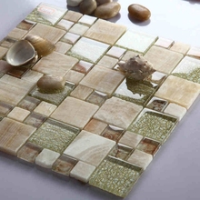 free shipping! glass mixed natural MARBLE STONE mosaic tiles backsplash, bathroom  tiles fireplace, home improvement