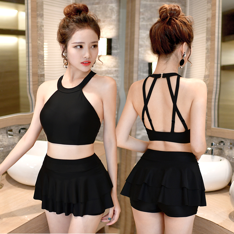 NIUMO NEW Swimming suit woman Skirt type Gather Small chest Large chest Swimwear Swim Hot springs<br>