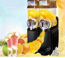 Free shipping 2 Tanks 2 Bowl Slush Machine commercial slush machine ice machine drink machines With CE Approved