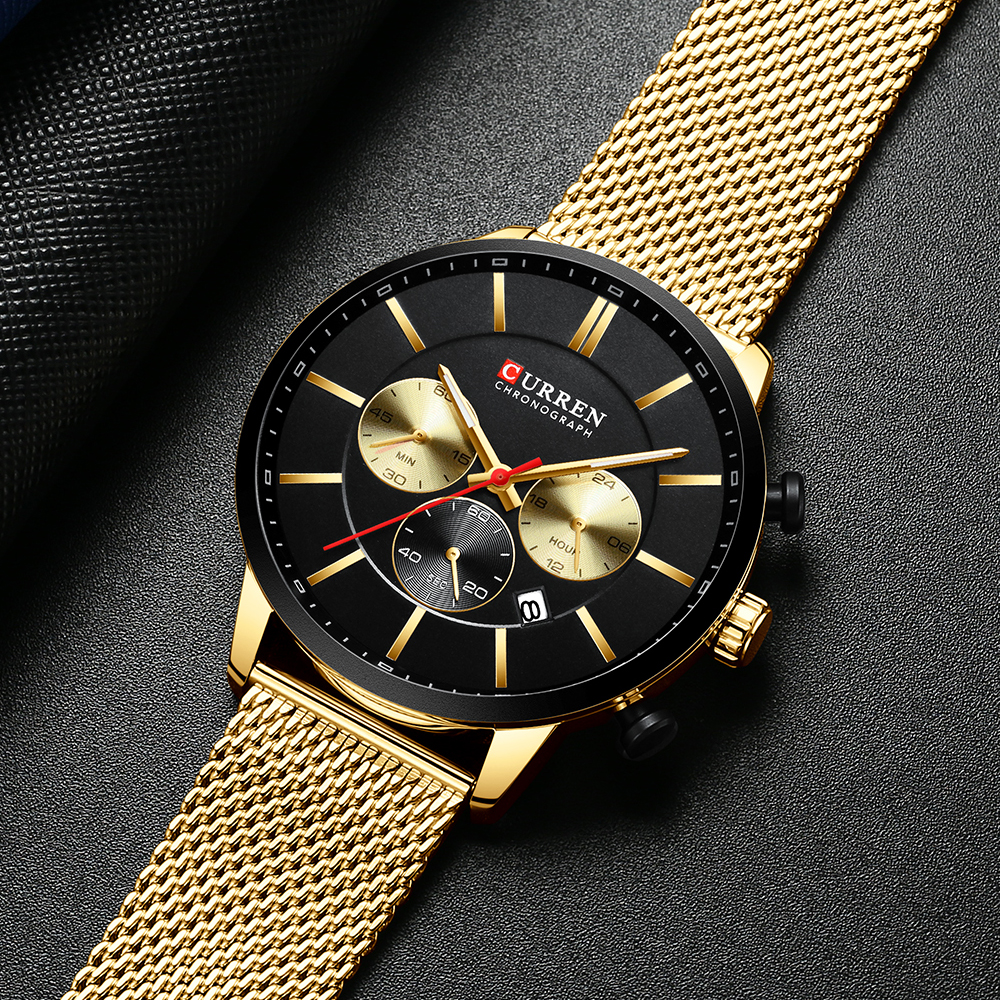 CURREN Watch Men Fashion Business Watches Men's Casual Waterproof Quartz Wristwatch Blue Steel Clock Relogio Masculino