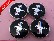 4pcs Free shipping 60mm Mustang Running Horse car emblem wheel center hub Dust-proof badge covers Auto accessories(China)
