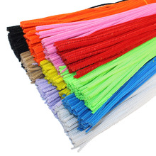 100pcs/lot 3MM Chenille Stems Pipe Cleaners Kids Toys DIY Handicraft Materials For Creative Kids Educational Toys(China)
