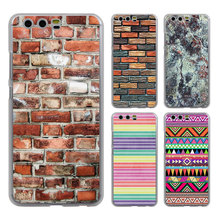 Brick Wall Mosaic granite Marble style clear Mobile phone Case cover for Huawei P10 P9 Lite P10 Plus P8 Ascend G7 G8 Mate 9