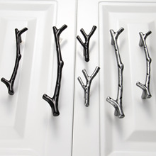 1Pc 96/128mm Furniture Handles Tree Branch Kitchen Closet Drawer Handles Pulls Cupboard Dresser Cabinet Knobs and Handles(China)