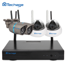 Plug and Play Wireless NVR CCTV System 4PCS 720P 1.0MP Outdoor Indoor Dome IR P2P WIFI IP Camera Video Security Surveillance Kit