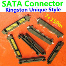 SATA Connector/Plug ,Offset type Male Half Pack style Adapter , SSD/HDD Connector, SMT,Locating Peg, 7pin + 15pin