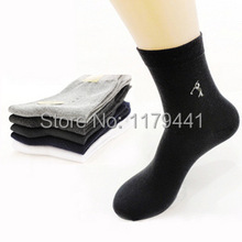 Rushed young boy Socks free Shipping Spring Autumn Fashion Cotton Soild Business Gentleman Dress sock 10pair teenagers(China)