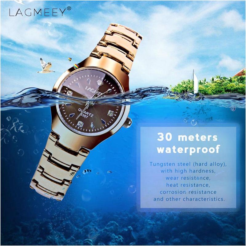 LAGMEEY Watch Women Brand Fashion Causal Tungsten Steel Watchband Relogio Quartz-watch Waterproof Classic WristWatch Gift Lady<br><br>Aliexpress