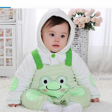 New 2016 Baby Winter Romper cotton Thick One Piece Newborn baby girl Warm jumpsuit Autumn Fashion baby's wear Kid Climb Clothes(China)