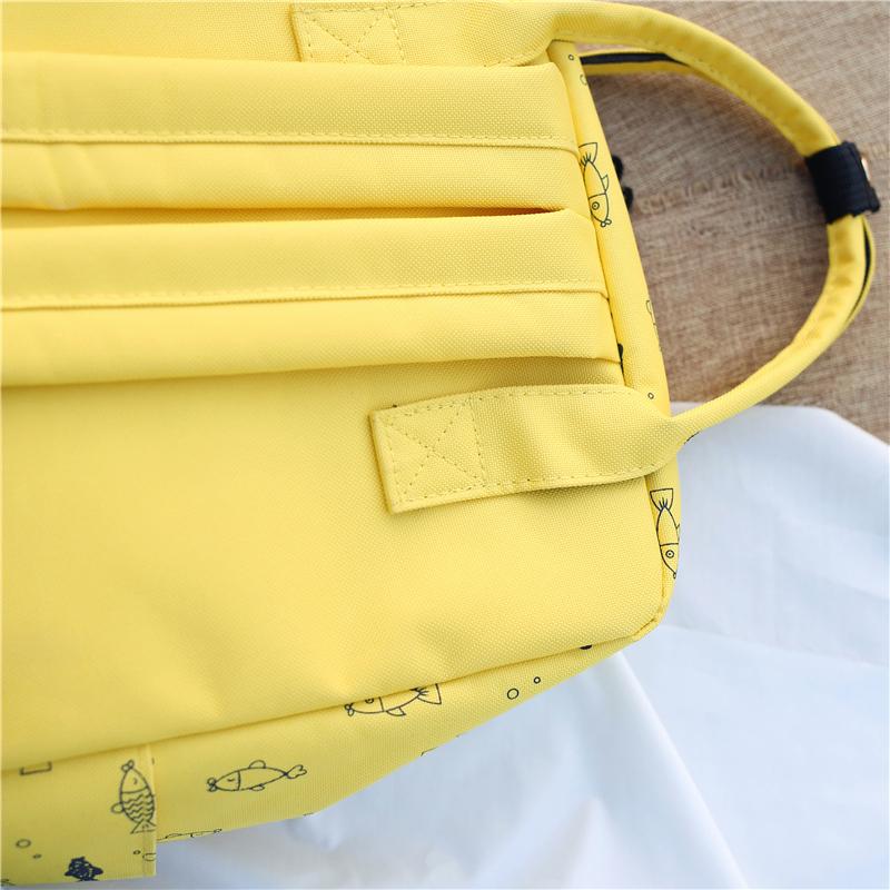 Menghuo Fish Printing Women School Bag Backpack for Teenage Girls Backpacks Female Canvas Children Schoolbag Women Bag s (18)