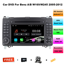 Android 7.1.1! 7 Inch Car DVD Player For Mercedes/Benz/Sprinter/B200/B-class/W245/B170/W209/W169 Wifi GPS Radio Support DTV DAB+