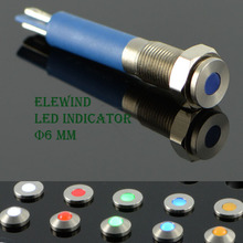 6mm stainless steel LED Indicator Light  (New)(PM06F-D/B/12V/S)