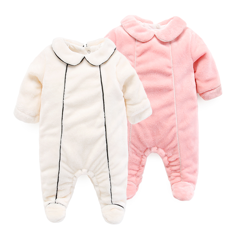 baby clothes infant thick romper winter coral fleece newborn clothes autumn<br>