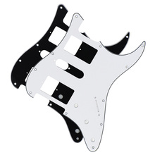 2pcs HSH Strat 11 Holes Electric Guitar Pickguard Scratch Plate White & Black for American/Mexican Modern Standard FD ST(China)