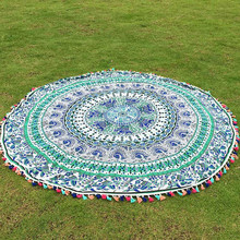 Round table cloth indian Beach Throw Roundie Mandala Towel Hot sale Serviette Ronde Toalla Playa Circle Beach Towels table cloth