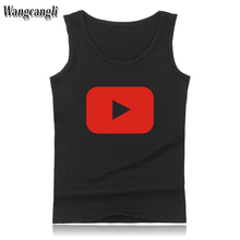 wangcangli 2017 New youtube vest Men Fitness Tank Tops Bodybuilding new Kpop Clothes Summer Vests PLUS SIZE XXS-4XL(China)