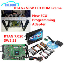Upgrade ECU Programming Adapter New LED Light BDM Frame Supports Online Version KTAG 7.020 SW2.23 Unlimited Tokens DHL Free