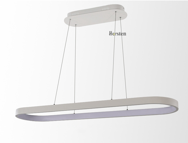 Modern Minimalism Oval Ring LED Pendant Lights Aluminum Acrylic Suspension Hanging Lamps For Dining Room Restaurant Office (10)