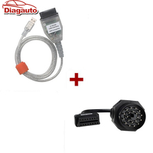 For BMW INPA/Ediabas OBD & ADS Interface with 20pin OBD1 to OBD2 Female Adapter Cable good quality