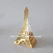 Fancy design! Free sample laser cutting paper craft eiffel tower wedding favor boxes party favors china from Mery Crafts
