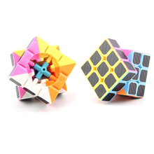 Professional Carbon Fiber Sticker Cube Magic Square Magic Cube Neo Fidget Cube Puzzle Juguetes Educativos Cubo Magico FX6K002(China)