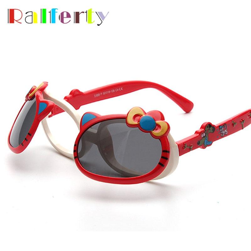 Ralferty Child Kids Lovely Cat Sunglasses Polarized Flip Up Sun Glasses UV400 Sun Protection Eyeglasses Infantil oculos 859<br><br>Aliexpress